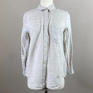 Gap Linen Button Down Blouse Long Sleeve XS Petite
